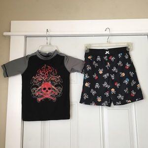 Swim Trunks and Shirt